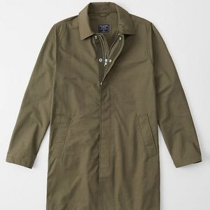 Abercrombie Olive Lightweight Trench Jacket